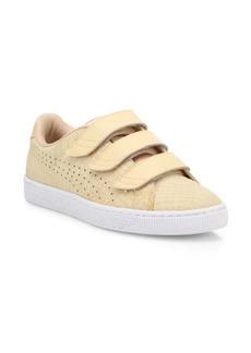 Puma Women's Basket Grip-Tape Suede Sneakers
