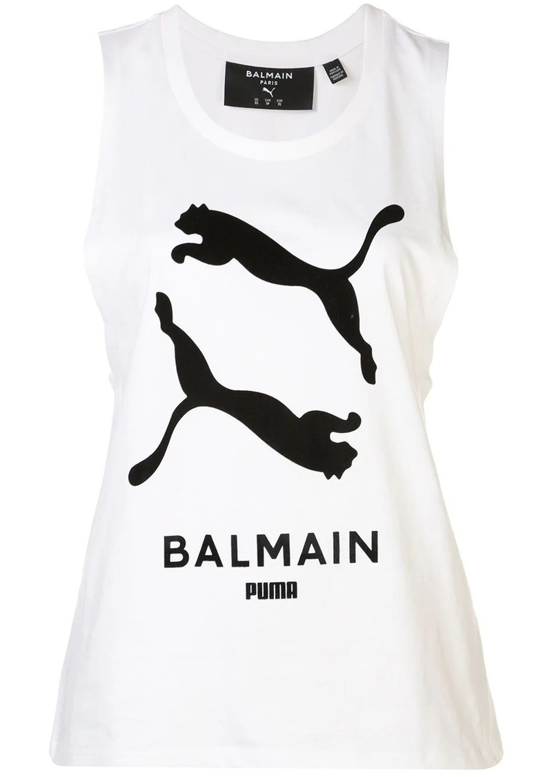 Puma x Balmain logo tank top