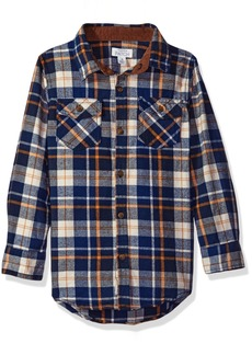 Pumpkin Patch Big Boys' Deep Blue Check Shirt