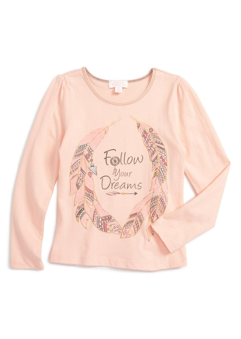 Pumpkin Patch Follow Your Dreams Graphic Tee (Toddler Girls & Little Girls)