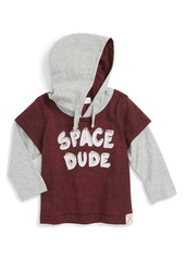 Pumpkin Patch Layered Look Hooded Shirt (Baby Boys)