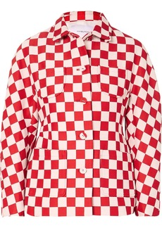 pushBUTTON Checked Wool-blend Jacket
