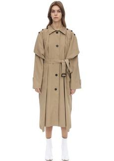 pushBUTTON Cotton & Nylon Gabardine Trench Coat
