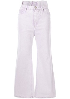 pushBUTTON cropped flared jeans