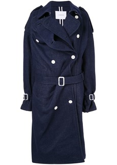 pushBUTTON denim double-breasted coat