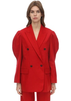 pushBUTTON Double Breasted Wool Jacket