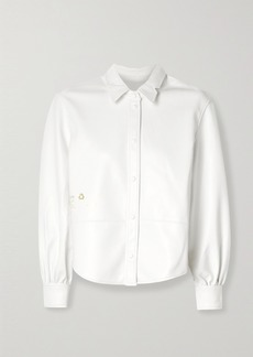 pushBUTTON Faux Leather Shirt
