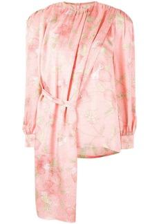 pushBUTTON floral print blouse
