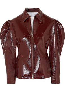 pushBUTTON Glossed Faux Leather Jacket