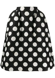 pushBUTTON polka dot full skirt