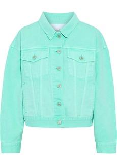 Pushbutton Woman Denim Jacket Mint