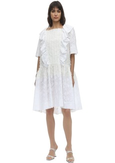 pushBUTTON Ruffled Fil Coupé Gauze Dress