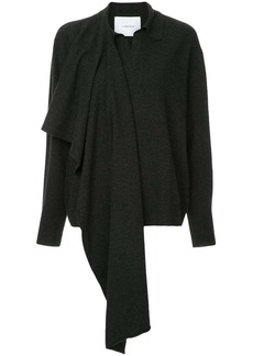 pushBUTTON scarf wrap sweater