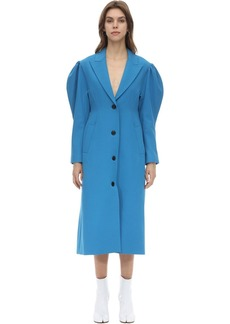 pushBUTTON Techno Coat W/ Puff Sleeves
