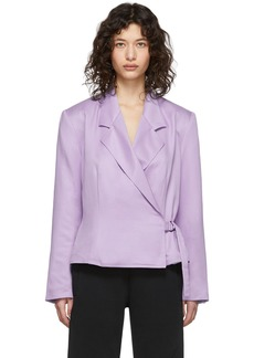 Pyer Moss Purple Wrap Blazer