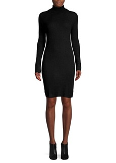 Qi Cashmere Cashmere Turtleneck Sweater Dress