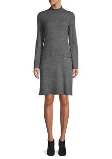 Qi Cashmere Mockneck Cashmere Dress