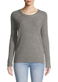 Qi Cashmere Textured Cashmere Sweater