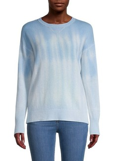 Qi Cashmere Tie-Dye Cashmere Sweater