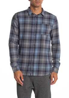Quiksilver Fatherfly Plaid Flannel Modern Fit Shirt
