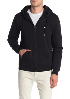 Quiksilver Gonna Hexa Faux Shearling Lined Zip Up Hoodie