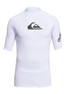 Quiksilver Men's All Time Short Sleeve Upf 50 Rash Guard