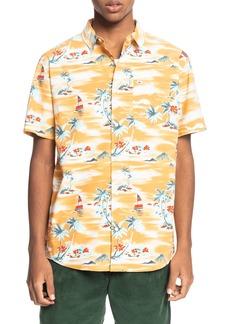Men's Quiksilver Island Hopper Short Sleeve Button-Up Shirt