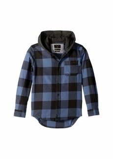 Quiksilver Motherfly Button Up Hoodie (Big Kids)