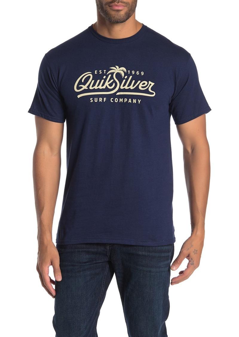 Quiksilver Palm Script Short Sleeve T-Shirt