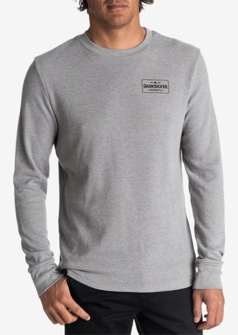 5dcb528cb309f2 Quicksilver Men's Detention Thermal Waffle-Knit Long-Sleeve T-Shirt.  Quiksilver