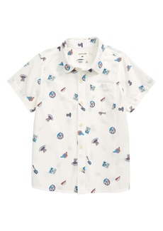 Quiksilver 4th of July Short Sleeve Button-Up Shirt (Big Boy)