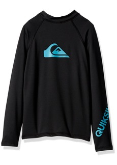 Quiksilver Big Boys' All Time Long Sleeve Surfshirt  S/10