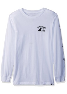 Quiksilver Boys' Big Crazy FACE Youth Long Sleeve TEE Shirt  L/14