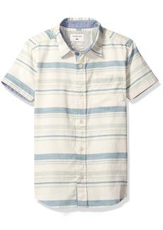 Quiksilver Boys' Big Aventail Ss Woven Shirt Moroccan Blue