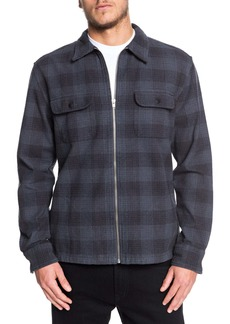 Quiksilver Bitter Springs Plaid Zip-Up Shirt Jacket