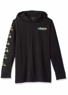 Quiksilver Boys' Big Rough Right Hood Youth Hoodie TEE Shirt  L/14