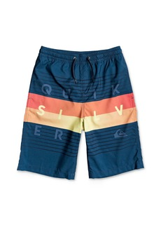 Quiksilver Boys' Colorblocked Volley Swim Trunks - Big Kid