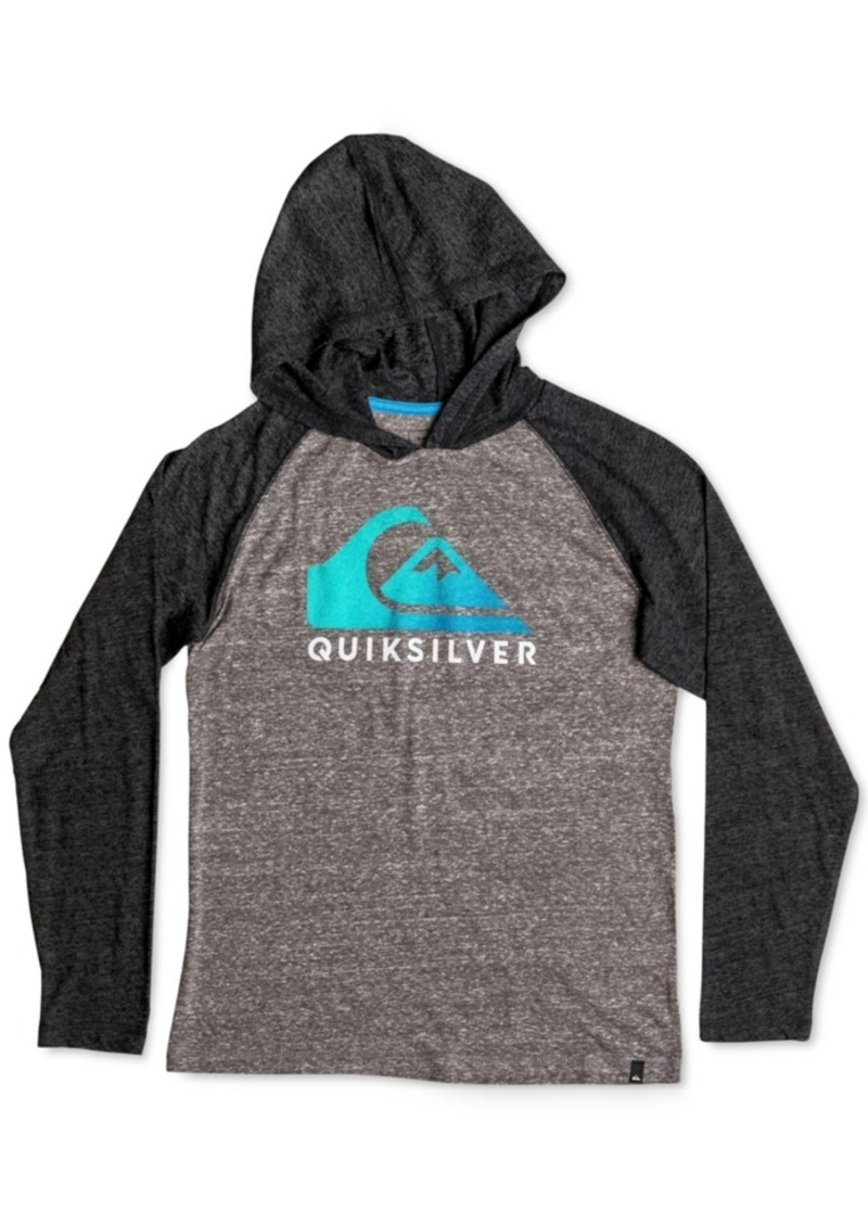 Quiksilver quiksilver boys 39 hooded long sleeve graphic for Boys long sleeve shirt with hood