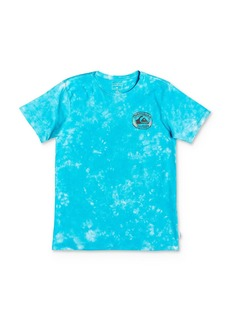 Quiksilver Boys' Tie-Dyed Logo Tee - Big Kid