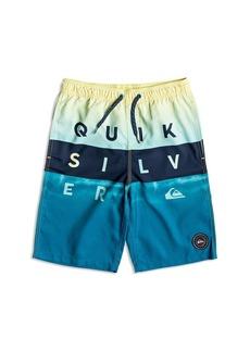 Quiksilver Boys' Wordblock Volley Swim Shorts - Big Kid