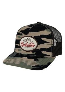 Quiksilver Don't Destroy Logo Patch Trucker Hat