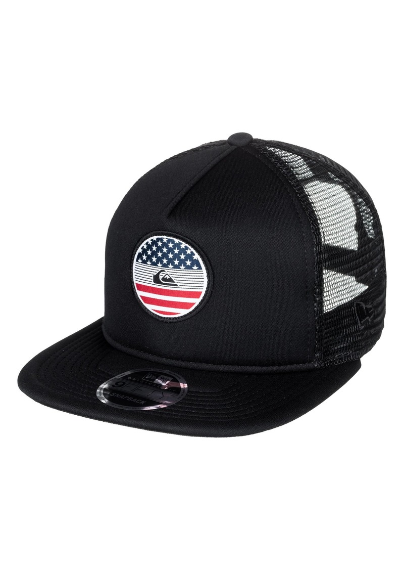 pretty nice 76118 98a69 Quiksilver Flag Trucker Hat