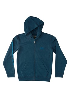 Quiksilver Flankin Logo Graphic Zip Hoodie (Big Boy)