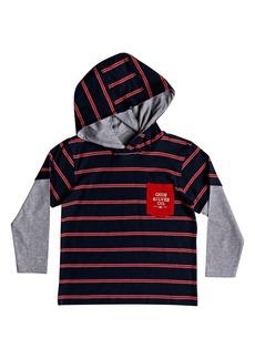 Quiksilver Gerik Stripe Layered Hoodie (Toddler Boys & Little Boys)