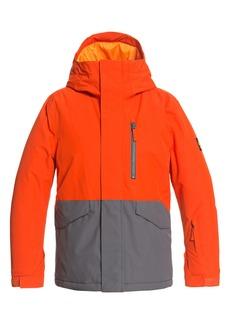Quiksilver Kids' Mission Solid Waterproof Hooded Snow Jacket (Big Boy)