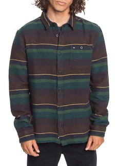 Quiksilver Lineup Distraction Stripe Button-Up Flannel Shirt