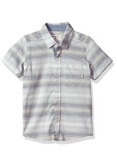 Quiksilver Little Boys' Aventail Shorts Sleeve Top DK Denim Avential