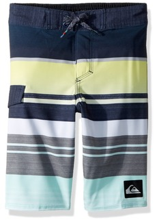Quiksilver Little Boys' Everyday Stripe Kids Swim Trunk