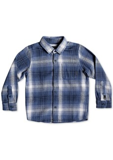Quiksilver Little Boys Fatherly Plaid Cotton Shirt