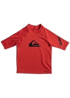 Quiksilver Logo-Print Rash Guard, Little Boys